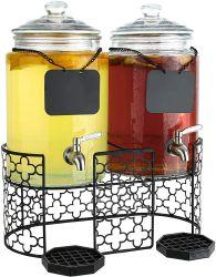 Doble Vidrio bebe frascos de vidrio de 1,5 galones dispensadores de bebidas para fiestas Fiestas de Bodas