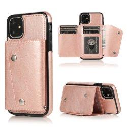 카드 슬롯 지갑 PU 가죽 휴대 전화 케이스(iPhone용 11/Xs 삼성 하드 케이스