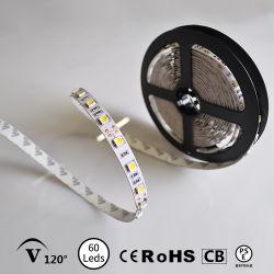 60LED étanche/M/M 120LED blanc chaud LED SMD5050 Bande souple