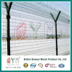 Y puesto valla valla de malla de alambre de seguridad del aeropuerto/ valla de malla de alambre soldado