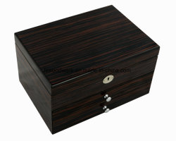 ピアノ終わりの木の宝石類のネックレスの記念品の記憶のパッキングギフトの箱