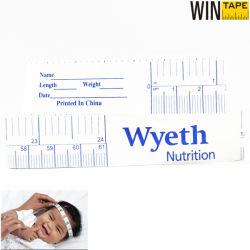 Nastro di misurazione di carta fatto pubblicità a marchio operato per lo strumento dentale e medico con il vostro marchio