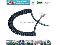 Kundenspezifisches Ring-Netzkabel mit Terminal, gewundenes Kabel mit dem Universalverbinder, bringend unter