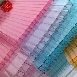 Polycarbonate Two-Wall creux Feuille Feuille de PC 8mm Feuille d'auvent