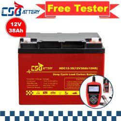 Csbattery 12V38ah betätigte Kohlenstoff Führen-Kohlenstoff Funktionsbatterie für Büro-Haus /VFD-Systems/Air-Conditioner/Tractor/Amy