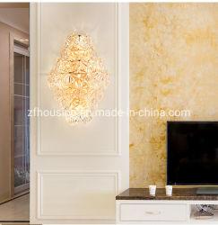 Antike Kristallluxuxwand des Messing-K9, die Innenwand-Halter-Lampe für Hauptdekoration beleuchtet