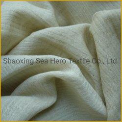 A roupa de cama/algodão dupla camada de tecido Crepe cor cru tingidos activa