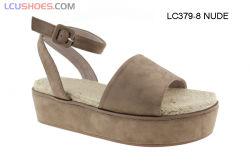 Cuña de cuero inferior gruesa de los zapatos de la plataforma de las sandalias de las mujeres romanas
