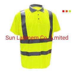 T-Shirts Hi-Viz roupas de trabalho de desgaste de trabalho Polo Shirts vestuário de segurança