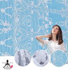 Bello merletto francese elegante popolare del ricamo del tessuto del merletto di disegno operato