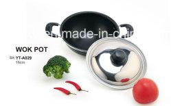 Aluminium van de legering bedekte Non-Stick Soep van de Wok voor Reeksen Cookware met een laag (sx-yt-A029)