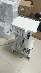 Turbina de aire de alta calidad Mini Mobile silencio construido en el portátil de succión unidad dental con compresor de aire