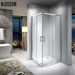 Fabbriche bagno Porte scorrevoli quadrate vetro temperato semplice doccia enclosure