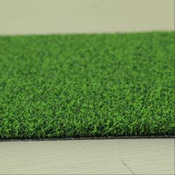 Tappeto erboso artificiale di golf di verde mettente della decorazione del giardino