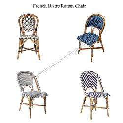 Presidenza tessuta sintetica del caffè del rattan dei bistrot francesi esterni della mobilia
