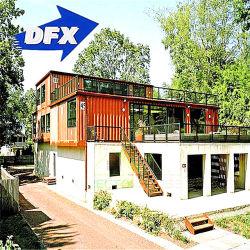 La luz Villa acero prefabricados modulares envío portátil pequeño recipiente de la casa de madera