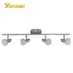 LED 4*5W 조정가능한 현대 천장 스포트라이트, 4개의 빛 부엌 궤도 반점 점화를 점화하는 수정같은 아크릴 유리 철 4 빛 궤도