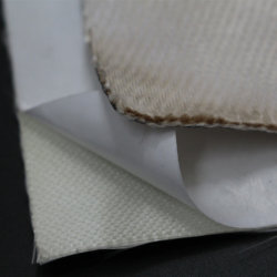 Alta resistência ao calor Tecidos de malha de sílica com Revestimento Adesivo