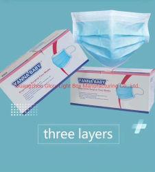 Stock Antifog étanche aux poussières de trois couches Masque facial médicaux jetables