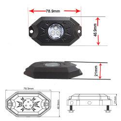 Bajo el vehículo motocicleta 8 Control remoto de las vainas de Voiture Bateau RGBW Multicolor LED Kit de luz de la roca de la moda de barcos coches offroad