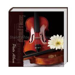 Capa do álbum de fotografias impressas em papel com folhas de auto-adesivos personalizados