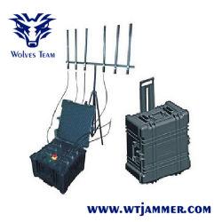 La DDS Multi-Band vehículo bomba de alta potencia de señal 20-3600MHz señal celular Jammer (hasta 2km)