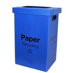 Corflute Twinwall plastique creux/PP Corbeille cas pour les déchets de papier