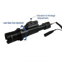 Abaixo de 100MW táctico Wysiwyp Espingarda de armas de caça Designador Laser verde com 5 MW laser vermelho Iluminador Vista Tocha Combo (ES-KS-CL2-G100R)