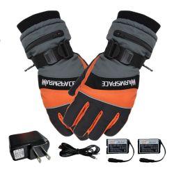 O inverno aquecedor manual USB à prova de luvas térmicas eléctrico luvas eléctrico alimentado por bateria para motociclo luvas de esqui