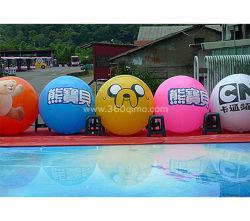 De Opblaasbare Ballon van de Verkoop van de fabriek met Bal Ihb301 van de LEIDENE de Lichte/Veelkleurige LEIDENE Plastic Reclame