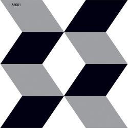 mattonelle di ceramica di Foor di arte in bianco e nero di disegno semplice di 300X300mm