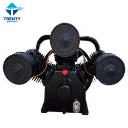 Componenti compressori a pistoni aria pompa/testa con azionamento a cinghia AC Pompa monostadio portatile 11 kw 15 HP 10 bar