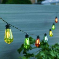 太陽電池式フィラメント効果 10 LED 電球(フェスティブライト 屋外レトロファストーンライト