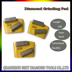 6# 16# 36# 60# Aggrasivev HTC Metallbondsegment-Diamant-Poliermittel-reibende Polierauflage für Granit-konkreten Fußboden-Oberflächen-Schleifer