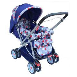 مقود مقبض شهير مزدوج الطبقات مظلة متعددة الوظائف عربة الأطفال