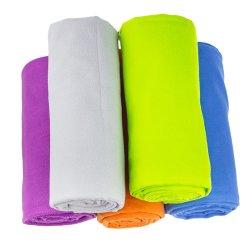 Conception personnalisée serviette de sport à séchage rapide en microfibre avec bande élastique