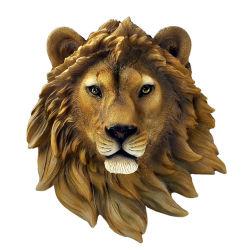 Personnaliser la taille de la vie de la résine de Sculpture de la tête des animaux Accueil animaux décoration murale
