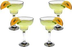 Marguerite lunettes 6-pièce, 10.25 oz verre à cocktail défini pour Daiquiri & boissons glacées et Martini, Claire sans plomb Parti élégant des verres à boire, design classique