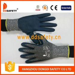Высокая производительность полиэтиленовые волокна с голубой из нитрила с покрытием на упоре для рук перчатки