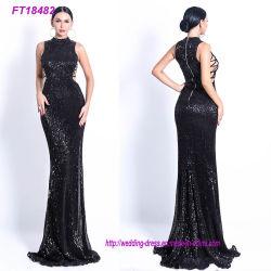 Sequin High-Necked élégante robe de soirée robe de fête creux
