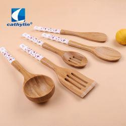 عالة علامة تجاريّة ملعقة [إك-فريندلي] يطبخ [كيتشنور] خشبيّة مع حامل
