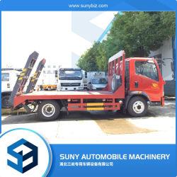 4X2 nuevo 6ton camión de transporte de la excavadora de cama plana
