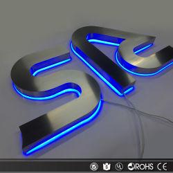 Montado na parede cortados a laser Custom 3D Sinais LED Metal Letras de canal