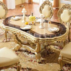 Eettafel van de Fabriek van het meubilair de In het groot Hout Gesneden Antieke met Stoel
