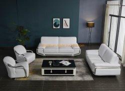 Chinesisches Foshan-modernes Leder 3 2 1 1 9 7 Seater Wohnzimmer-Oberseite-Korn-Freizeit-Leder-zeitgenössische italienische Art-Wohnzimmer-Ausgangsmöbel