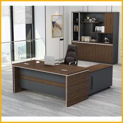 Bureau Exécutif en bois avec table latérale