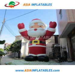 Реклама Gaint постоянного Санта-Клаус надувных шаров, Рождество надувной Санта Клаус мультфильм