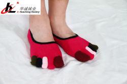 Haute qualité personnalisés de couleurs attrayantes Teen cinq Toe Chaussettes de cheville