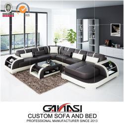 Новые поступления продукта в современном стиле китайской мебели кожаный диван с чаем в таблице