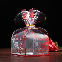 Meter en cajas de embalaje de plástico transparente para el sector minorista/PET plástico claro a favor de la caja de caramelos de regalo de bodas